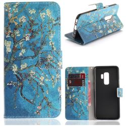 Apricot Tree PU Leather Wallet Case for Samsung Galaxy S9 Plus(S9+)