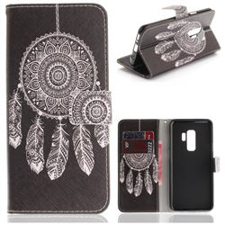 Black Wind Chimes PU Leather Wallet Case for Samsung Galaxy S9 Plus(S9+)