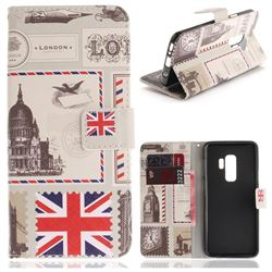 London Envelope PU Leather Wallet Case for Samsung Galaxy S9 Plus(S9+)