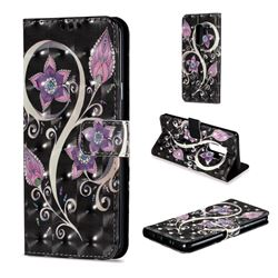 Peacock Flower 3D Painted Leather Wallet Case for Samsung Galaxy S9 Plus(S9+)