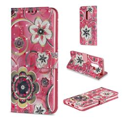 Tulip Flower 3D Painted Leather Wallet Case for Samsung Galaxy S9 Plus(S9+)
