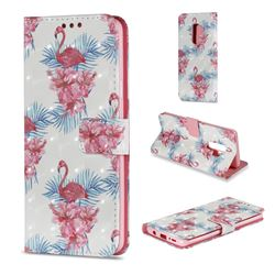 Flamingo and Azaleas 3D Painted Leather Wallet Case for Samsung Galaxy S9 Plus(S9+)