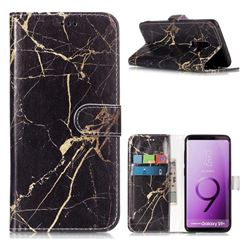 Black Gold Marble PU Leather Wallet Case for Samsung Galaxy S9 Plus(S9+)