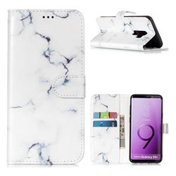 Soft White Marble PU Leather Wallet Case for Samsung Galaxy S9 Plus(S9+)