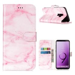 Pink Marble PU Leather Wallet Case for Samsung Galaxy S9 Plus(S9+)