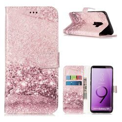 Glittering Rose Gold PU Leather Wallet Case for Samsung Galaxy S9 Plus(S9+)