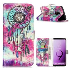 Butterfly Chimes PU Leather Wallet Case for Samsung Galaxy S9 Plus(S9+)