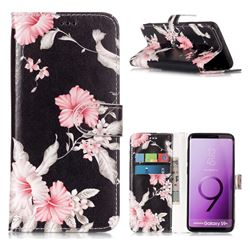 Azalea Flower PU Leather Wallet Case for Samsung Galaxy S9 Plus(S9+)