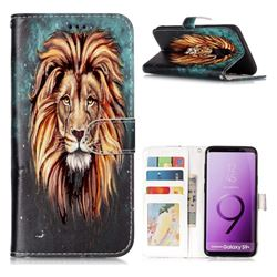 Ice Lion 3D Relief Oil PU Leather Wallet Case for Samsung Galaxy S9 Plus(S9+)