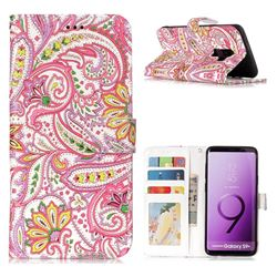 Pepper Flowers 3D Relief Oil PU Leather Wallet Case for Samsung Galaxy S9 Plus(S9+)