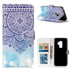 Totem Flower 3D Relief Oil PU Leather Wallet Case for Samsung Galaxy S9 Plus(S9+)