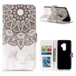 Marble Mandala 3D Relief Oil PU Leather Wallet Case for Samsung Galaxy S9 Plus(S9+)