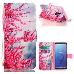 Plum Flower Leather Wallet Phone Case for Samsung Galaxy S9 Plus(S9+)
