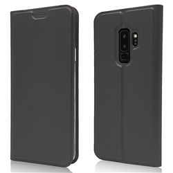 Ultra Slim Card Magnetic Automatic Suction Leather Wallet Case for Samsung Galaxy S9 Plus(S9+) - Star Grey