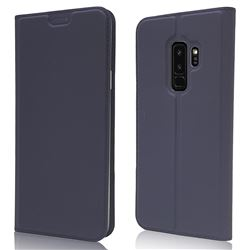 Ultra Slim Card Magnetic Automatic Suction Leather Wallet Case for Samsung Galaxy S9 Plus(S9+) - Royal Blue