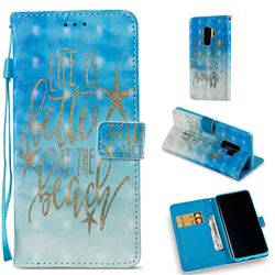 Venus Text 3D Painted Leather Wallet Case for Samsung Galaxy S9 Plus(S9+)