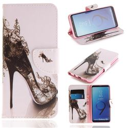 High Heels PU Leather Wallet Case for Samsung Galaxy S9 Plus(S9+)