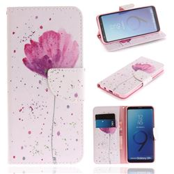 Purple Orchid PU Leather Wallet Case for Samsung Galaxy S9 Plus(S9+)