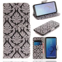 Totem Flowers PU Leather Wallet Case for Samsung Galaxy S9 Plus(S9+)