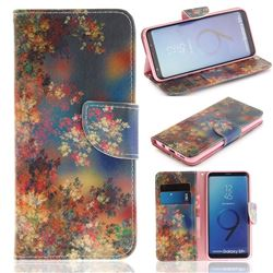 Colored Flowers PU Leather Wallet Case for Samsung Galaxy S9 Plus(S9+)