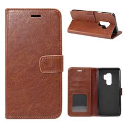 Retro Classic Smooth PU Leather Wallet Holster Case for Samsung Galaxy S9 Plus(S9+) - Coffee