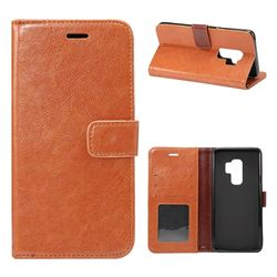 Retro Classic Smooth PU Leather Wallet Holster Case for Samsung Galaxy S9 Plus(S9+) - Brown