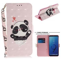 Heart Cat 3D Painted Leather Wallet Phone Case for Samsung Galaxy S9 Plus(S9+)