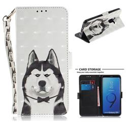 Husky Dog 3D Painted Leather Wallet Phone Case for Samsung Galaxy S9 Plus(S9+)