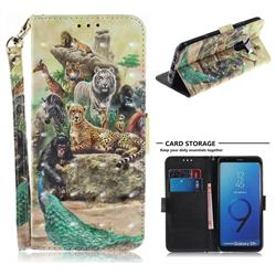 Beast Zoo 3D Painted Leather Wallet Phone Case for Samsung Galaxy S9 Plus(S9+)
