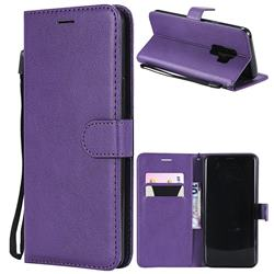 Retro Greek Classic Smooth PU Leather Wallet Phone Case for Samsung Galaxy S9 Plus(S9+) - Purple