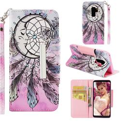 Angel Monternet Big Metal Buckle PU Leather Wallet Phone Case for Samsung Galaxy S9 Plus(S9+)