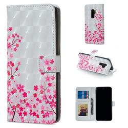 Cherry Blossom 3D Painted Leather Phone Wallet Case for Samsung Galaxy S9 Plus(S9+)