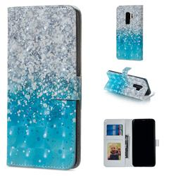 Sea Sand 3D Painted Leather Phone Wallet Case for Samsung Galaxy S9 Plus(S9+)