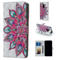 Mandara Flower 3D Painted Leather Phone Wallet Case for Samsung Galaxy S9 Plus(S9+)