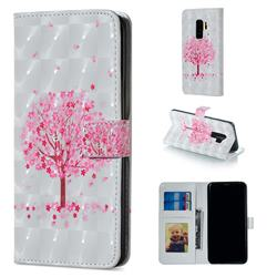 Sakura Flower Tree 3D Painted Leather Phone Wallet Case for Samsung Galaxy S9 Plus(S9+)