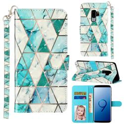 Stitching Marble 3D Leather Phone Holster Wallet Case for Samsung Galaxy S9 Plus(S9+)