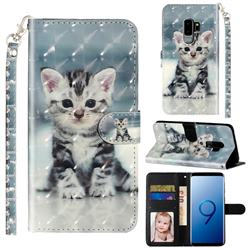 Kitten Cat 3D Leather Phone Holster Wallet Case for Samsung Galaxy S9 Plus(S9+)