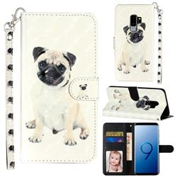 Pug Dog 3D Leather Phone Holster Wallet Case for Samsung Galaxy S9 Plus(S9+)
