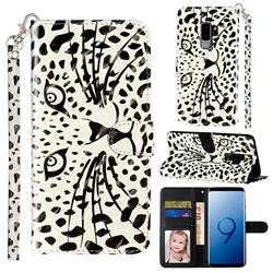 Leopard Panther 3D Leather Phone Holster Wallet Case for Samsung Galaxy S9 Plus(S9+)