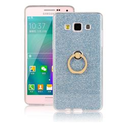 Luxury Soft TPU Glitter Back Ring Cover with 360 Rotate Finger Holder Buckle for Samsung Galaxy A3 2015 A300 - Blue