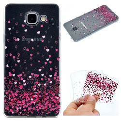 Heart Shaped Flowers Super Clear Soft TPU Back Cover for Samsung Galaxy A3 2016 A310