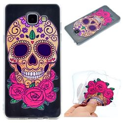 Skeleton Flower Super Clear Soft TPU Back Cover for Samsung Galaxy A3 2016 A310