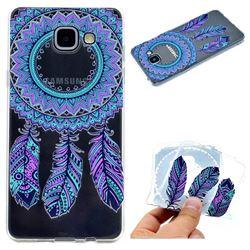 Blue Feather Campanula Super Clear Soft TPU Back Cover for Samsung Galaxy A3 2016 A310