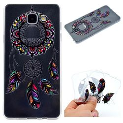 Feather Black Wind Chimes Super Clear Soft TPU Back Cover for Samsung Galaxy A3 2016 A310