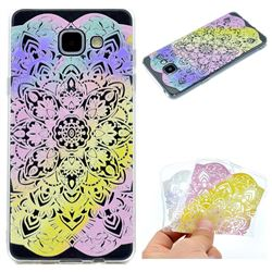 Mandala Rainbow Flower Super Clear Soft TPU Back Cover for Samsung Galaxy A3 2016 A310