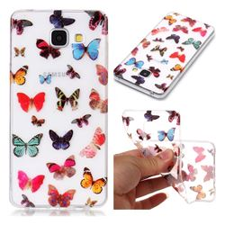 Colorful Butterfly Super Clear Soft TPU Back Cover for Samsung Galaxy A3 2016 A310