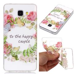 Green Leaf Rose Super Clear Soft TPU Back Cover for Samsung Galaxy A3 2016 A310