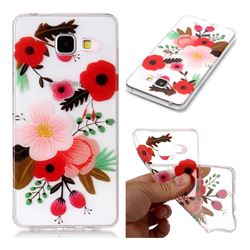 Painting Flowers Super Clear Soft TPU Back Cover for Samsung Galaxy A3 2016 A310