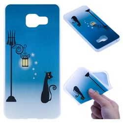 Street Light Cat 3D Relief Matte Soft TPU Back Cover for Samsung Galaxy A3 2016 A310