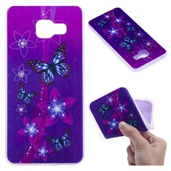 Butterfly Flowers 3D Relief Matte Soft TPU Back Cover for Samsung Galaxy A3 2016 A310